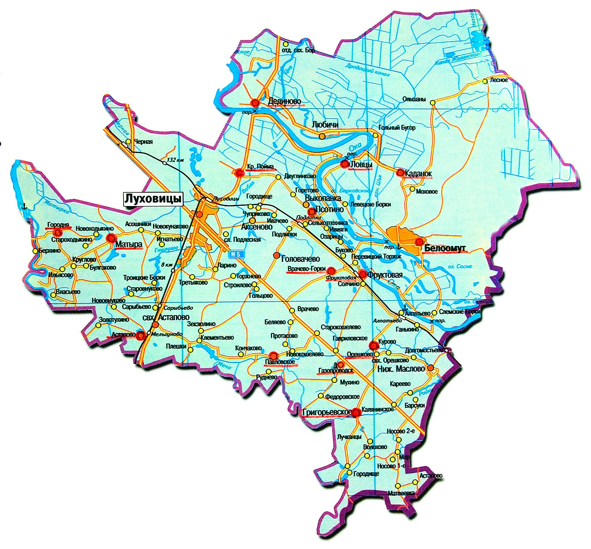 План-схема Луховицкого района (wikipedia.org)